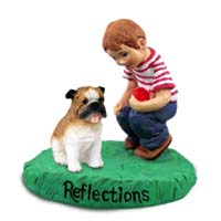 Bulldog Reflections w/Boy Figurine