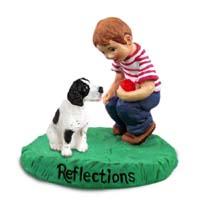 Pointer Black & White Reflections w/Boy Figurine