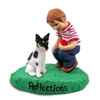 Rat Terrier Reflections w/Boy Figurine
