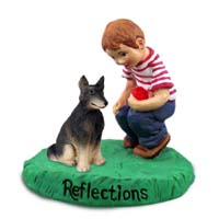 Belgian Tervuren Reflections w/Boy Figurine