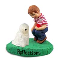 Komondor Reflections w/Boy Figurine
