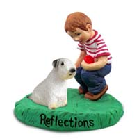 Sealyham Terrier Reflections w/Boy Figurine