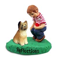Briard Reflections w/Boy Figurine