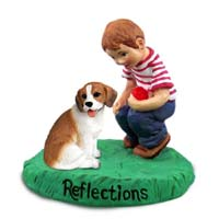 Beagle Reflections w/Boy Figurine