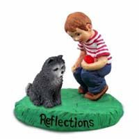 Chow Blue Reflections w/Boy Figurine