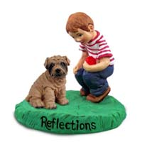 Shar Pei Brown Reflections w/Boy Figurine
