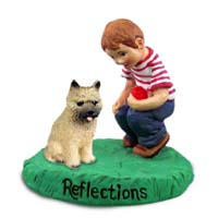 Cairn Terrier Red Reflections w/Boy Figurine