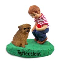 Norfolk Terrier Reflections w/Boy Figurine