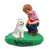 American Eskimo Reflections w/Boy Figurine