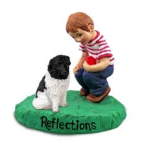 Landseer Reflections w/Boy Figurine