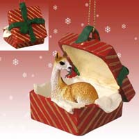 Llama Gift Box Red Ornament