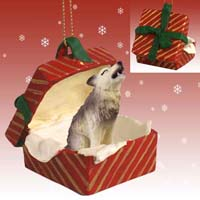Wolf Timber Gift Box Red Ornament