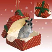 Kangaroo Gift Box Red Ornament