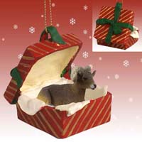 Big Horn Sheep Gift Box Red Ornament