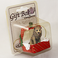 Ornament Gift Box Red Animals