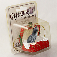 Ornament Gift Box Red Cats