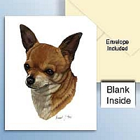 Chihuahua Tan & White Greeting Cards Set of 6 *Enevelope NOT included!*