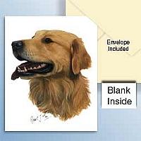 Golden Retriever Greeting Cards Set of 6 *Enevelope NOT included!*