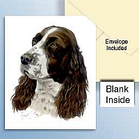 Springer Spaniel Greeting Cards Set of 6 *Enevelope NOT included!*