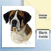 Saint Bernard w/Rough Coat Greeting Cards Set of 6 *Enevelope NOT included!*