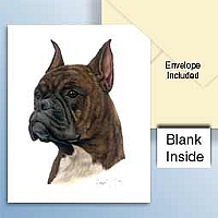 Boxer Brindle Greeting Cards Set of 6 *Enevelope NOT included!*