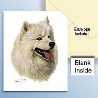 Samoyed Greeting Cards Set of 6 *Enevelope NOT included!*