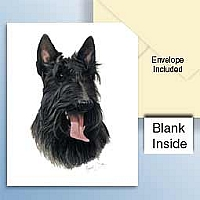 Scottish Terrier Greeting Cards Set of 6 *Enevelope NOT included!*