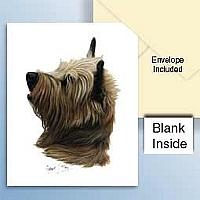 Cairn Terrier Red Greeting Cards Set of 6 *Enevelope NOT included!*