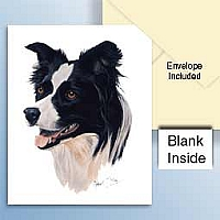Border Collie Greeting Cards Set of 6 *Enevelope NOT included!*