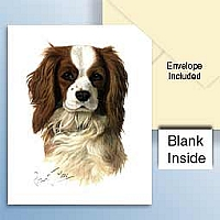 Cavalier King Charles Spaniel Greeting Cards Set of 6 *Enevelope NOT included!*