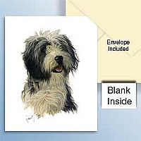 Bearded Collie Greeting Cards Set of 6 *Enevelope NOT included!*