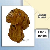 Vizsla Greeting Cards Set of 6 *Enevelope NOT included!*