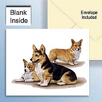 Welsh Corgi Pembroke Greeting Cards Set of 6 *Enevelope NOT included!*