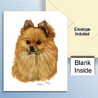 Pomeranian Red Greeting Cards  Set of 6 *Enevelope NOT included!*
