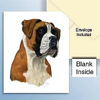Boxer w/Uncropped Ears Greeting Cards Set of 6 *Enevelope NOT included!*