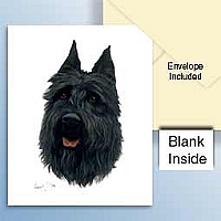 Bouvier Cropped Greeting Cards Set of 6 *Enevelope NOT included!*