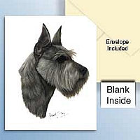 Schnauzer Gray Greeting Cards Set of 6 *Enevelope NOT included!*