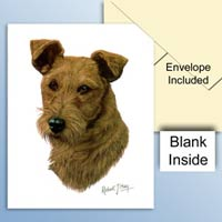 Irish Terrier Greeting Cards Set of 6 *Enevelope NOT included!*