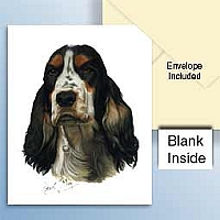 Cocker Spaniel Black & Tan Greeting Cards Set of 6 *Enevelope NOT included!*