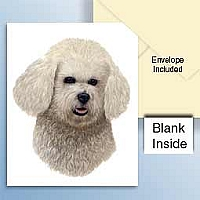 Bichon Frise Greeting Cards Set of 6 *Enevelope NOT included!*