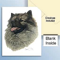 Keeshond Greeting Cards Set of 6 *Enevelope NOT included!*