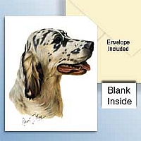 English Setter Blue Belton Greeting Cards Set of 6 *Enevelope NOT included!*