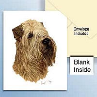 Soft Coated Wheaten Greeting Cards Set of 6 *Enevelope NOT included!*