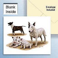 Bull Terriers Greeting Cards Set of 6 *Enevelope NOT included!*