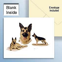 German Shepherds Greeting Cards Set of 6 *Enevelope NOT included!*