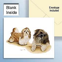 Shih Tzu Greeting Cards Set of 6 *Enevelope NOT included!*