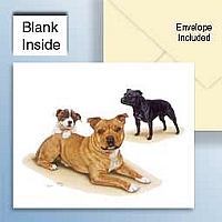 Staffordshire Bull Terrier Greeting Cards Set of 6 *Enevelope NOT included!*
