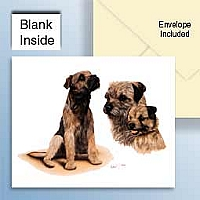 Border Terrier Greeting Cards Set of 6 *Enevelope NOT included!*