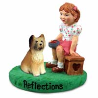 Briard Reflections w/Girl Figurine