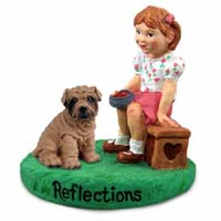 Shar Pei Brown Reflections w/Girl Figurine